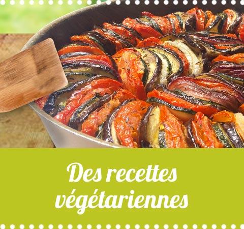 des recettes de cuisine végétariennes